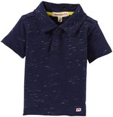 Appaman Distressed Polo (Baby) - Indigo-3-6 Months