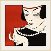 1921 The Courtauld Gallery, Gazette du Bon Ton - No 6 Cecla Pearls Detail Print