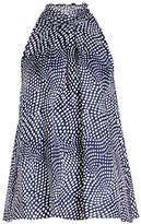 Diane von Furstenberg Printed Silk Sleeveless Blouse