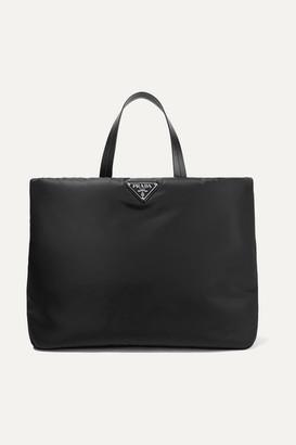 Prada Leather-trimmed Nylon Tote - Black