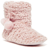 Jessica Simpson Popcorn Knit Faux Fur Lined Metallic Bootie