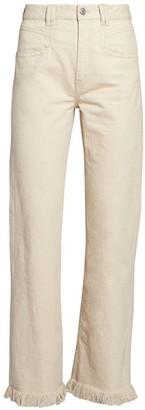 Isabel Marant Elvira Slouchy Frayed Hem Jeans