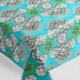 World Market Green and Blue Esme Outdoor Tablecloth