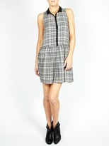 Vanessa Bruno athé by Plaid Sleeveless Collared Dress