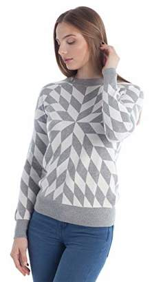Fancy Stitch Women's Color Block Jacquard Knitted Sweater Top