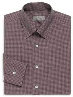 Canali Checkered Cotton Dress Shirt