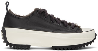 Converse Black Cozy Club Run Star Hike Low-Top Sneakers