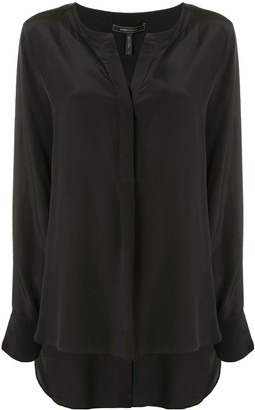 BCBGMAXAZRIA Fluid Long Sleeve Blouse