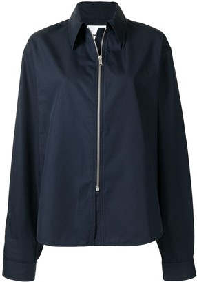 Jil Sander Long-Sleeved Zipped Shirt
