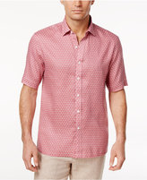 Tasso Elba Men's Foulard-Pattern Linen Shirt, Created for Macy's