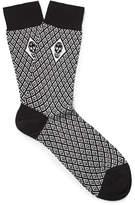 Alexander McQueen Jacquard-Knit Cotton-Blend Socks
