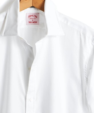 Hamilton Made in the USA Tuxedo Shirt with French Cuff in White