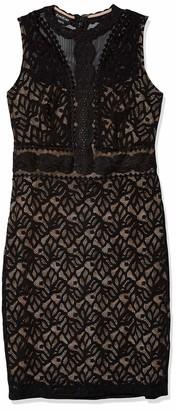 Bebe Women's Bodycon Lace Lining Sheath Midi Dress