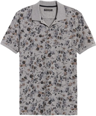 Banana Republic Luxury-Touch Floral Polo Shirt