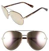 Oscar de la Renta '210' 61mm Aviator Sunglasses