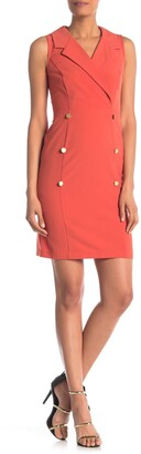 Sharagano Sleeveless Trench Dress