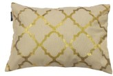 Kensie 'Holly' Metallic Lattice Pillow