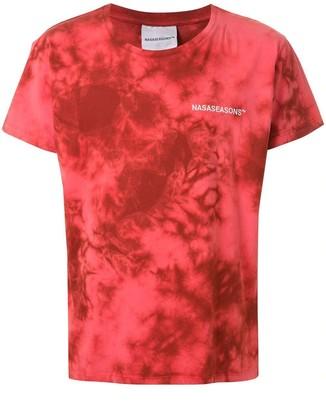 Nasaseasons Red Tie-dye Logo T-shirt