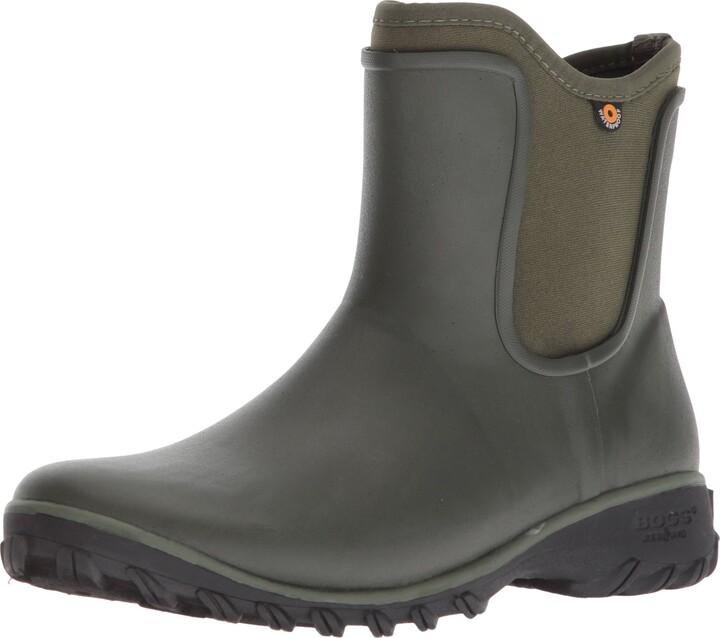 BOGS Womens Sauvie Chelsea Waterproof Garden Rain Shoe