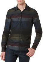 Perry Ellis Big and Tall Striped Sportshirt