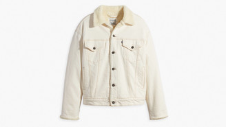 Levi's Natural Made and Crafted Oversized Women Jacket - S   natural - Natural/Natural