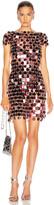 Paco Rabanne Sequin Mini Dress in Burgundy | FWRD