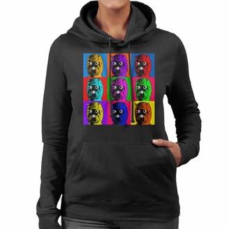 Original Stormtrooper Tuscan Raider Pop Art Women's Hooded Sweatshirt Black