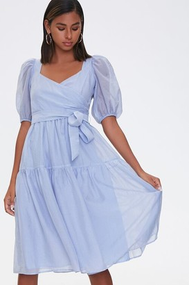 Forever 21 Tie-Waist Fit Flare Dress