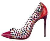Christian Louboutin Spike Me 100 Pointed-Toe Pumps