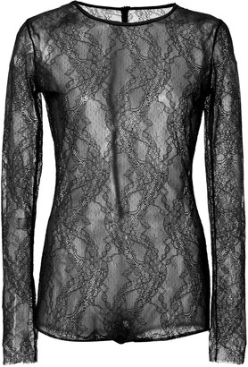 RED Valentino Stretch-Lace Bodysuit