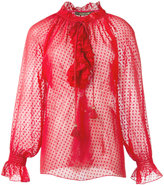 Roberto Cavalli ruffled sheer blouse