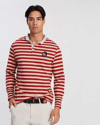 Kent And Curwen Striped Long Sleeve Polo