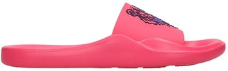 Kenzo Flats In Fuxia Rubber/plasic