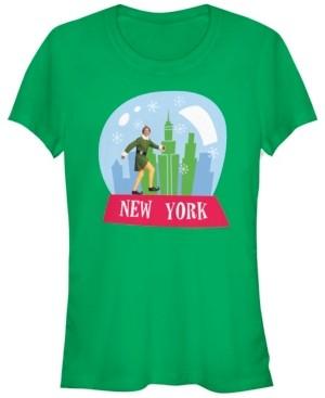 Fifth Sun Elf New York Buddy Snow Globe Women's Short Sleeve T-Shirt