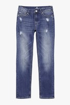 7 For All Mankind Boys 8-16 Paxtyn Skinniest Tapered 5-Pocket Stretch Denim Jeans In Shoreline