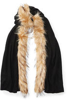 Ralph Lauren Faux Fur–Trim Scarf