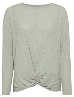 Dorothy Perkins Womens Green Twist Front Jumper, Green