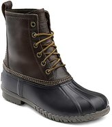 G.H. Bass & Co. Men's Dixon Rain Boot, Dark Brown/Black