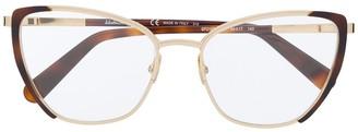 Salvatore Ferragamo Cat-Eye Frame Glasses