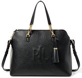Lauren Ralph Lauren Anstey Collection Tasseled Monogram-Stitched Dome Satchel