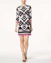 Jessica Howard Petite Geo-Print Shift Dress