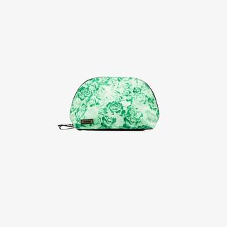 Ganni Green floral print zipped pouch