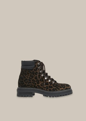 Amber Leopard Lace Up Boot