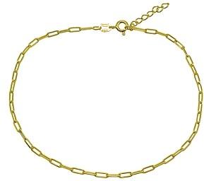 Aqua Paper Clip Chain Ankle Bracelet - 100% Exclusive