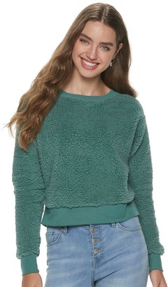 So Juniors' Cropped Sherpa Pullover