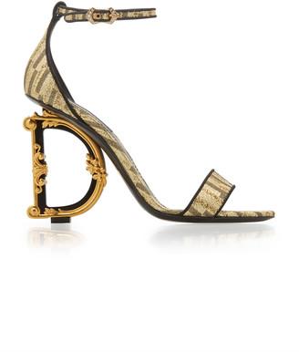 Dolce & Gabbana Logo-Embellished Lurex Sandals