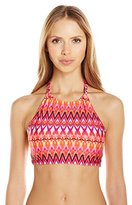 Kenneth Cole Reaction Women's Beyond The Sea Reversible Hi Neck Bikini Top