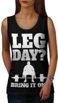 Bring It On Workout Leg Day Women NEW M Tank Top | Wellcoda