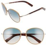 Tom Ford Women's Georgia 59Mm Sunglasses - Rose Gold/ Beige/ Sand