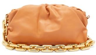 Bottega Veneta The Chain Pouch Leather Clutch Bag - Tan